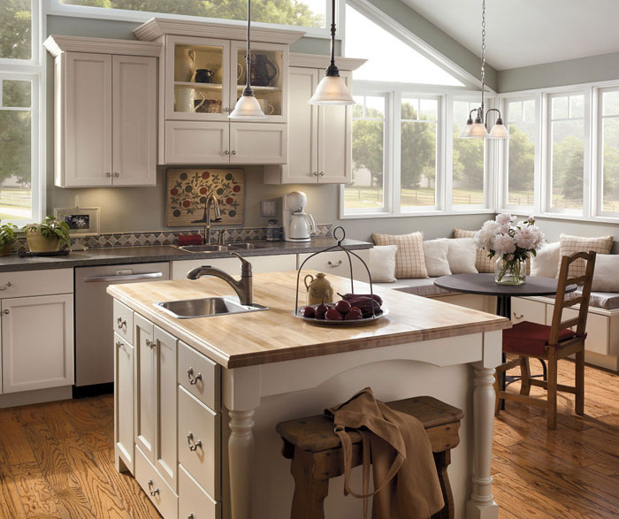 Kemper Cabinets - Off White Kitchen Cabinets - Gerome's Kitchen And Bath