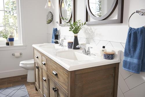 Moen Double Handle Faucet - Hilliard - Gerome's Kitchen And Bath