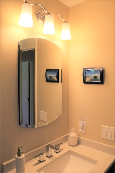 Guest Bath - Sink And Mirror - Small Bathroom Remodel - Chesterland - Gerome's Kitchen And Bath