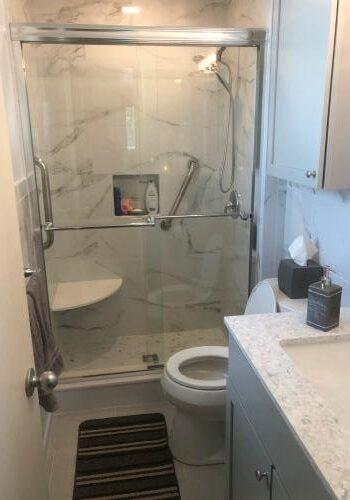 Tile Shower - Glass Door - Master Bathroom Ideas - Geromes Kitchen And Bath