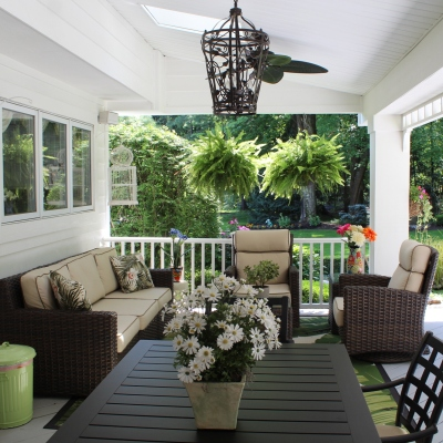 Patio Design - Outdoor Table View - Gerome's Kitchen And Bath
