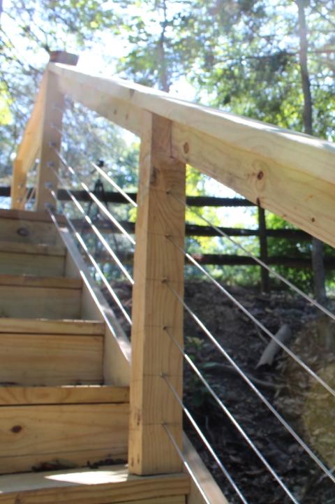 Deck Design - Cable Railings - Gerome's Kitchen And Bath