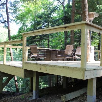 Deck Remodeling - Hillside Posts - Gerome's Kitchen And Bath